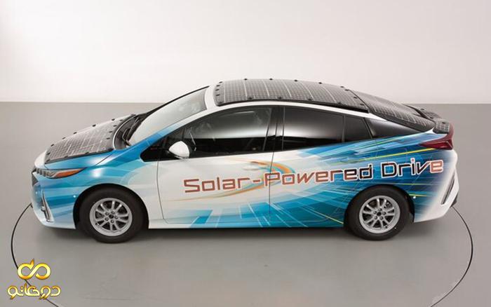 خودروی برقی جدید تویوتا با سقفی از پنل خورشیدی